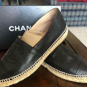 Chanel lambskin espadrille